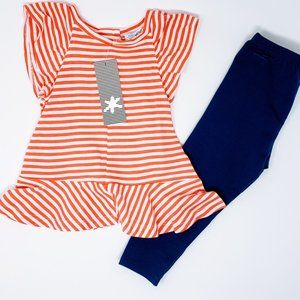 Splendid 2 Piece Outfit Striped Top with Pants